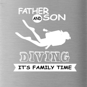 Father And Son - Diving - Water Bottle