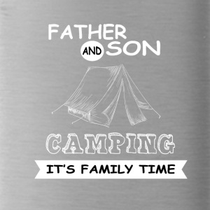 Father And Son - Camping - Water Bottle
