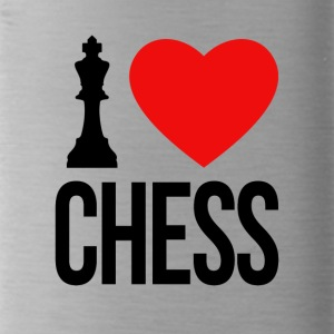 I LOVE CHESS - Trinkflasche