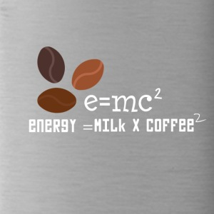 E = MC2 Energie Milch Kaffee T-Shirt - Trinkflasche