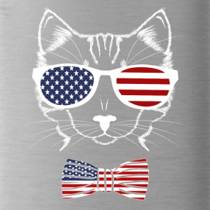 4 juillet USA Meowica Funny Cat - Gourde