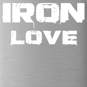 iron love white - Trinkflasche