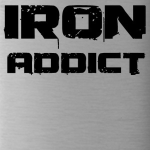 iron addict black - Trinkflasche