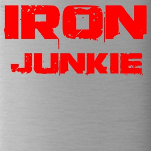 iron junkie red - Trinkflasche