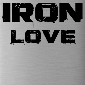 iron love black - Trinkflasche
