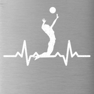 My heart beats for Volleyball - Water Bottle