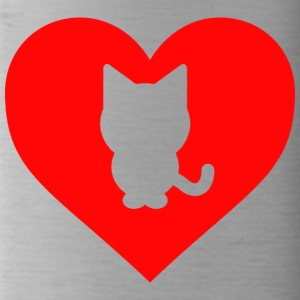 Heart Cat - Water Bottle