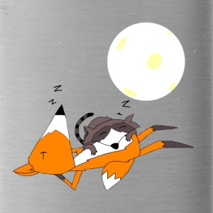 Fox and raccoon sleeping - Water Bottle