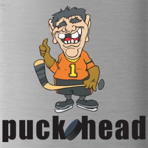 Hockey Puck Head - Water Bottle