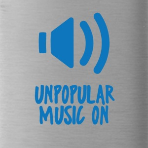 Hipster: Unpopular Music On - Trinkflasche