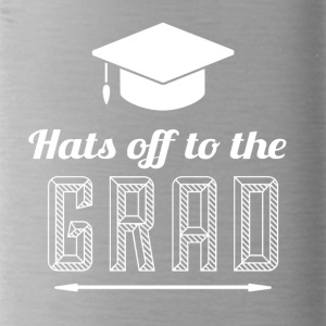 High School / Graduation: Hats off to the degree - Water Bottle