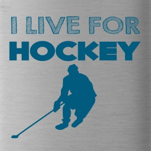 Hockey: I live for hockey - Water Bottle