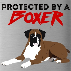 Dog / Boxer: Protected By A Boxer - Water Bottle