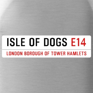 Isle of Dogs Street Sign - Water Bottle