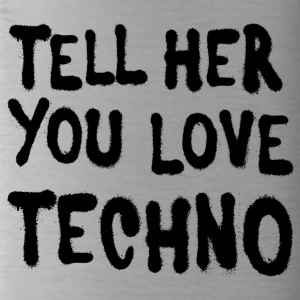 Tell her you love techno - Water Bottle