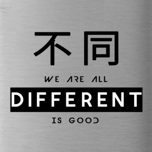 Different is goed - Drinkfles