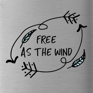 Hippie / Hippies: Free as the Wind - Trinkflasche