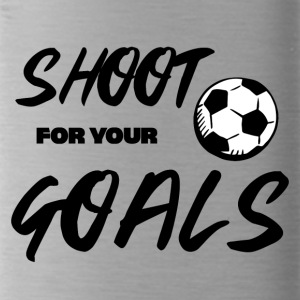 Fußball: Shoot for your Goals - Trinkflasche