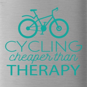 Cycling: Cycling - cheaper than Therapy - Water Bottle