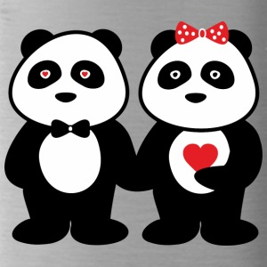 Paare panda in love - Trinkflasche