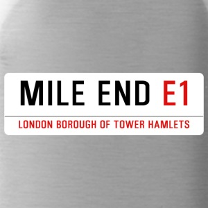 Mile End Street Sign - Water Bottle
