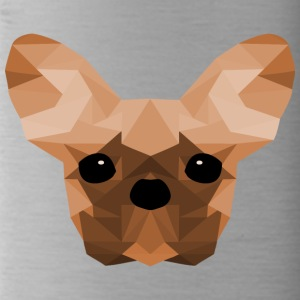 French Bulldog Low Poly Design orange - Water Bottle