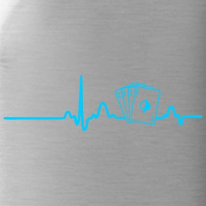 ECG HEART LINE POKER turquoise - Water Bottle