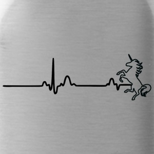 ECG HEART LINE UNIT black - Water Bottle
