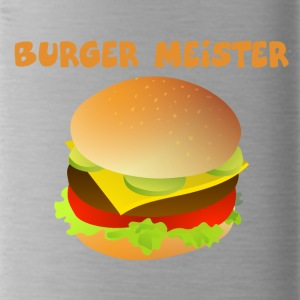 Burger-Meister Motiv Funny shirt for fast food - Water Bottle