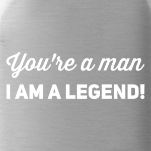 You're a man i am a legend white - Water Bottle