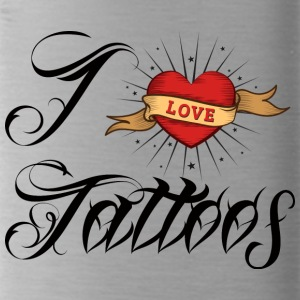 Tattoo / tattoo: I Love Tattoos - Water Bottle