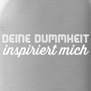 Your stupidity inspires me white - Water Bottle