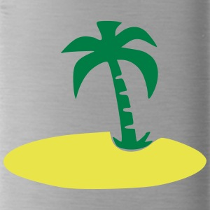 Island with palm tree - Water Bottle