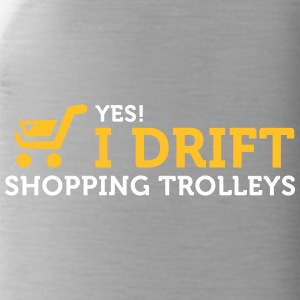 Yes! I Drift With Shopping Cart In The Supermarket - Water Bottle