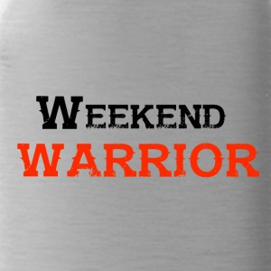 Shirt Weekend Warrior Wochenende Party - Trinkflasche