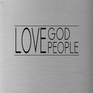 Love God Love People - Water Bottle