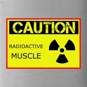 Caution Radioactive Muscle - Water Bottle
