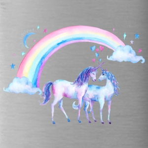 Unicorn couples in love - Water Bottle