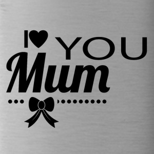 i love you mom black - Water Bottle