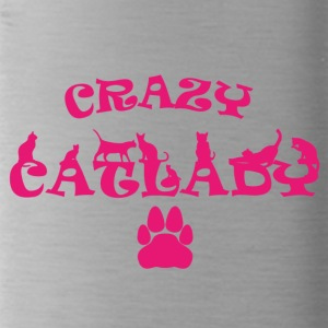 CRAZY PINK Catlady - Water Bottle