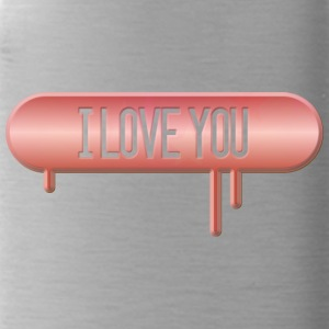 I LOVE YOU 001 AllroundDesigns - Trinkflasche