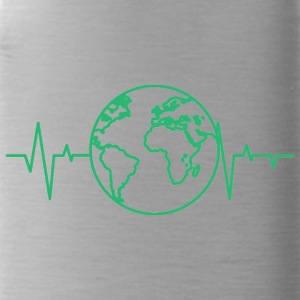 Earth Day / Earth Day: heart rate of the earth - Water Bottle