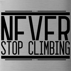 Never Stop Climbing 001 AllroundDesigns - Water Bottle
