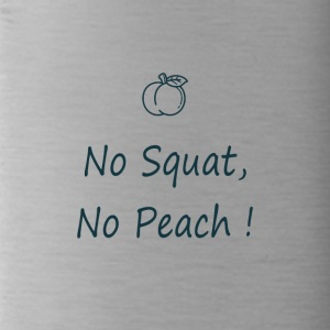 No squatting, no peach in blue - Water Bottle