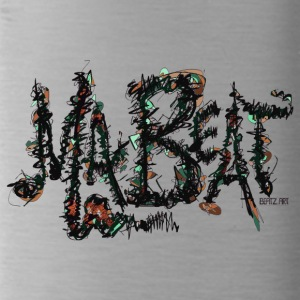 MA BEAT brau- ARTwork by BEATZ.Art Schrift Design - Trinkflasche