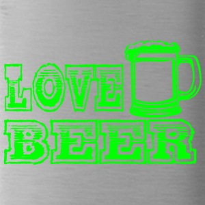 LOVE BEER green - Water Bottle