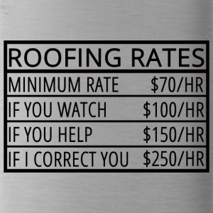 Roofing: Roofing Rates - Water Bottle