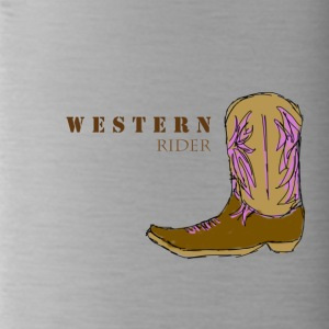 Western rider color - Water Bottle