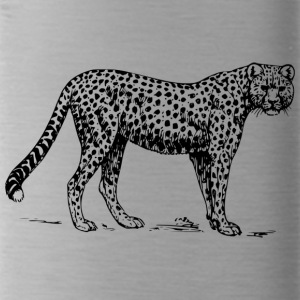 Leopard black and withe - Water Bottle