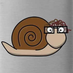 Old brown snail - Water Bottle